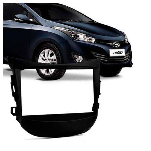 Moldura Preta 2 Din FIAMON Hb20 Hb20s Hb20x Modelos com Som Hyundai
