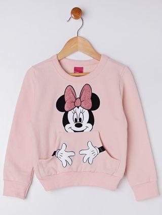 Moletom Disney Infantil para Menina - Rosa
