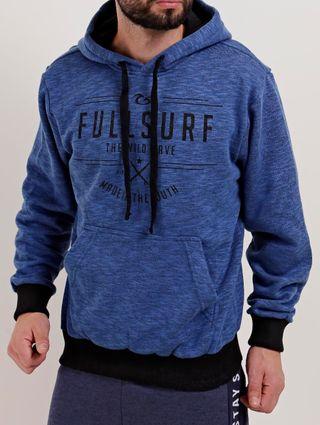Moletom Fechado Masculino Full Surf Azul