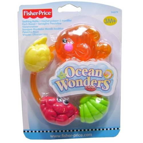 Mordedor Argola Fundo do Mar Peixe Fisher-Price - Mattel