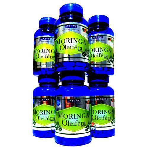 Moringa Oleifera Combo 6 Potes - 360 Cápsulas 600mg