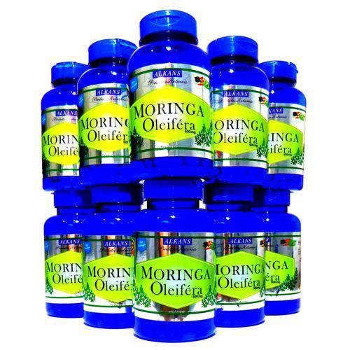 Moringa Oleifera Extrato Combo 10 Potes 600 Cápsulas 600 Mg
