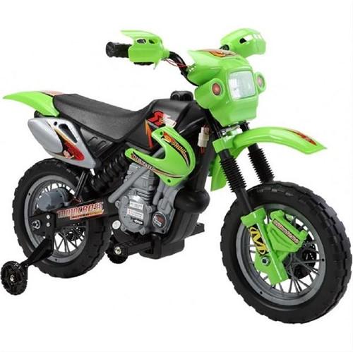 Moto Elétrica Infantil Motocross 6V Verde Homeplay