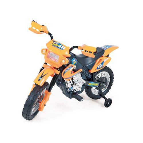 Moto Elétrica Motocross Laranja 6v Homeplay