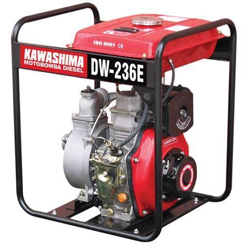 Motobomba a Diesel Autoescovante para Água Limpa 4.2 Hp Dw-236e Kawashima