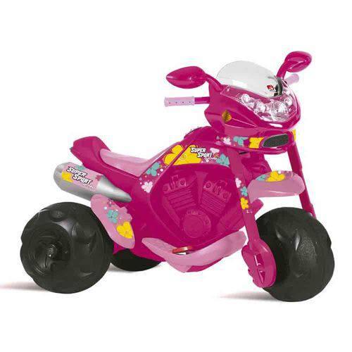 Motoca Elétrica Supersport Feminina Rosa Bandeirante