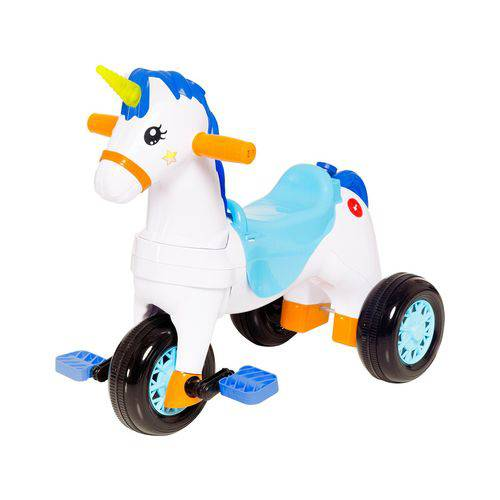 Motoca Unicórnio Fantasy Azul Calesita