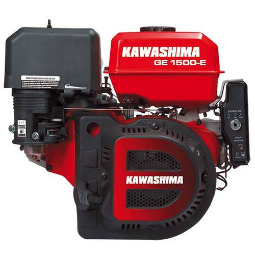 Motor Estacionário 15 Hp 4t Partida Elétrica Ge 1500e Kawashima