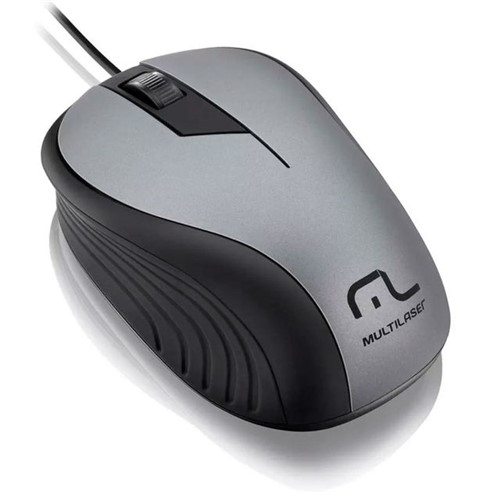Mouse Emborrachado com Fio USB Multilaser Grafite