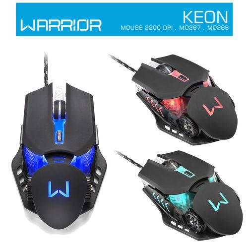 Mouse Gamer Multilaser Warrior MO267 3200 DPI 6 Botões com Luz Led - Profissional Gamer PC