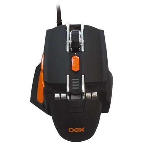 Mouse Gamer Oex Cyber USB 5200 Dpi 7 Botões Preto MS306