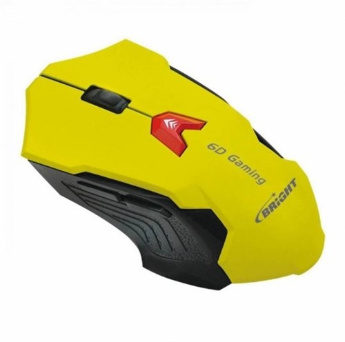 Mouse Gamer Usb Bright 0375 Amarelo