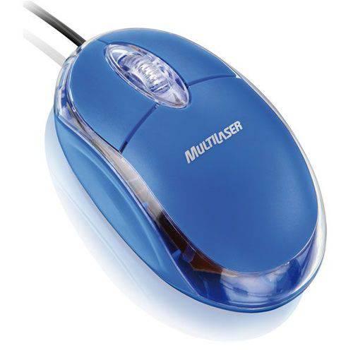 Mouse Multilaser Classic Mo001 Usb Azul