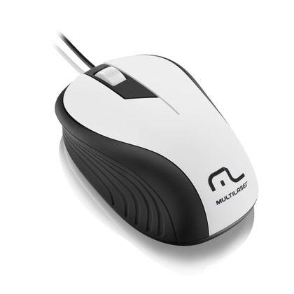Mouse Multilaser Emborrachado USB 1200Dpi - MO224 MO224