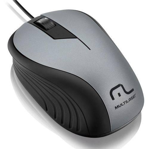Mouse Optico 1200 Dpi Preto/grafite Usb Mo225 Multilaser