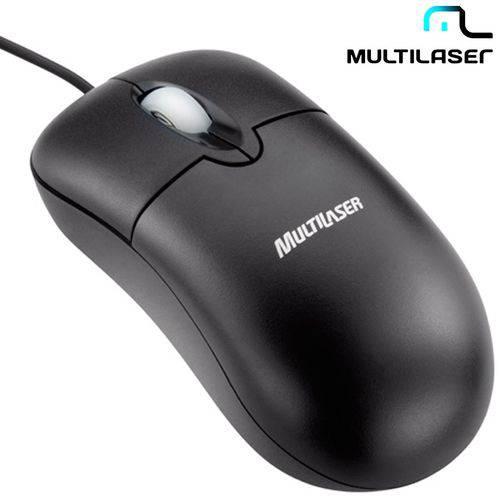 Mouse Óptico Multilaser com 3 Botões e Conexão PS2 - MO031