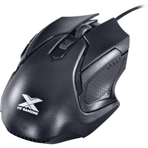 Mouse Óptico Vx Gaming Wasp Ergonômico 2400 Dpi Ajustável e 06 Botões Preto