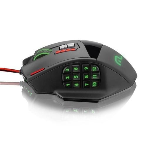 Mouse Profissional Laser 4000dpi Preto 18 Botões com Mouse Pad - 206