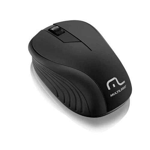 Mouse Sem Fio 2,4 GHz com USB Multilaser Preto