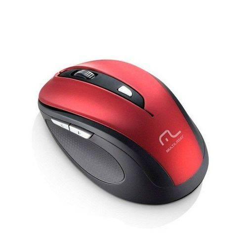 Mouse Sem Fio 2.4 Ghz Comfort 6 Botoes Vermelho e Preto USB - Mo239