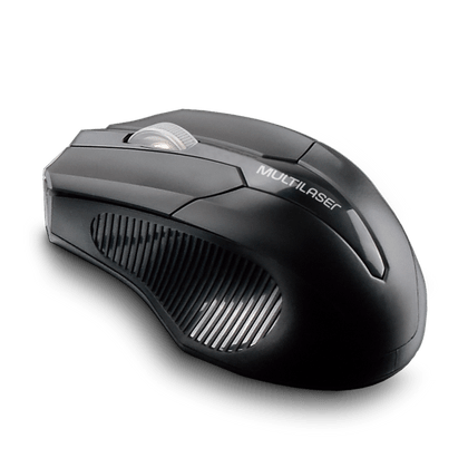 Mouse Sem Fio 2.4 GHZ USB Box Multilaser Preto - MO264 MO264