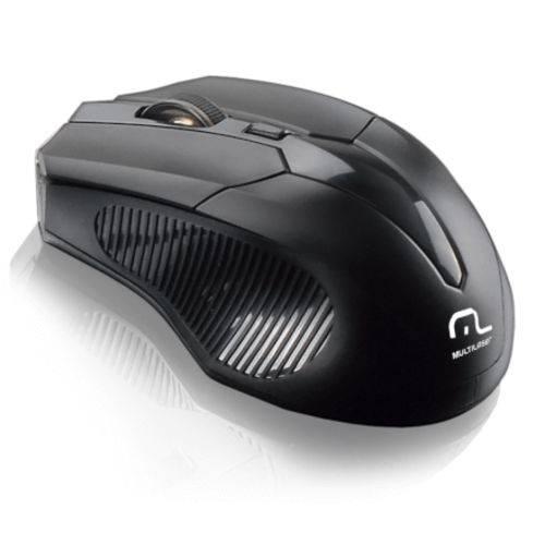 Mouse Sem Fio 2.4ghz 1600dpi Black Multilaser - Mo221