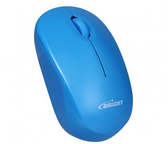 Mouse Sem Fio Bright 2,4ghz Azul 0475
