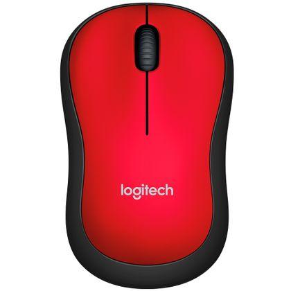 Mouse Sem Fio M185 Vermelho Logitech Logitech