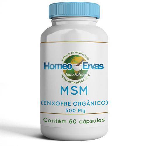 MSM (Enxofre Orgânico) 500mg - 60 CÁPSULAS - Homeo Ervas