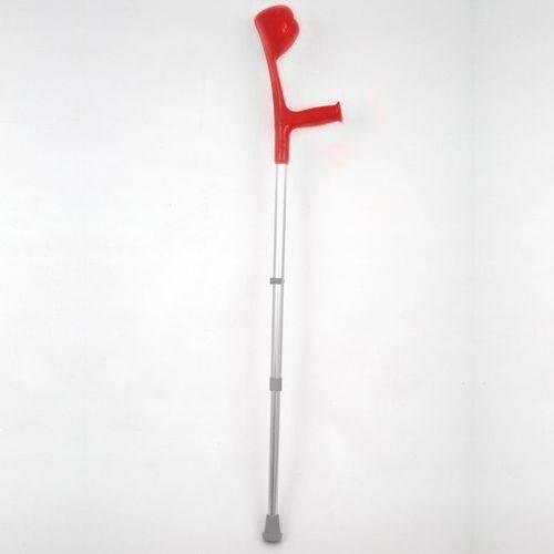 Muleta Canadense Vermelha Regulável Alo Colorida Até 110kg