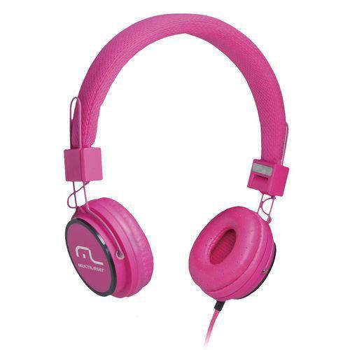 Multilaser Headphone Head Fun com Microfone P2 3,5mm Hi-Fi Ph088 Rosa