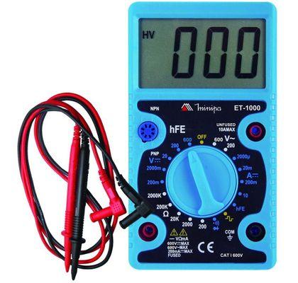 Multímetro Digital CAT I 600V Minipa ET-1000 ET-1000