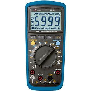 Multímetro Digital com Detecção Tensão Sem Contato ET1649 Minipa