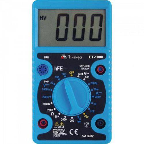 Multimetro Digital Et-1000 Azul Minipa
