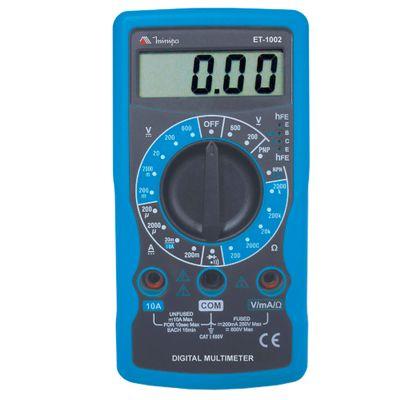Multímetro Digital MINIPA ET-1002 - CAT I AC 200/600V DC - Baixo Custo ET-1002
