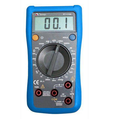 Multímetro Digital Minipa Et-1110A Cat Ii 600V