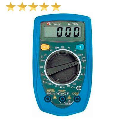 Multímetro Digital Minipa ET-1400 CAT II 300V - CAT I 600V ET-1400