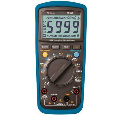 Multímetro Digital Minipa True RMS - CAT III 600V - ET-1649 ET-1649
