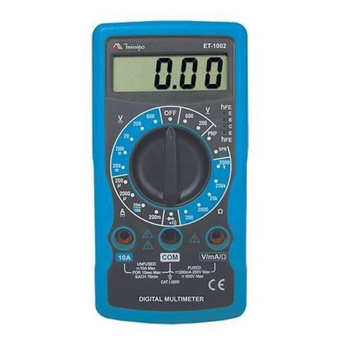 Multímetro Digital Profissional ET-1002 - Minipa