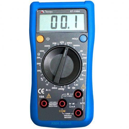 Multímetro Digital Profissional MINIPA ET-1100A - Teste Bateria Continuidade Hfe