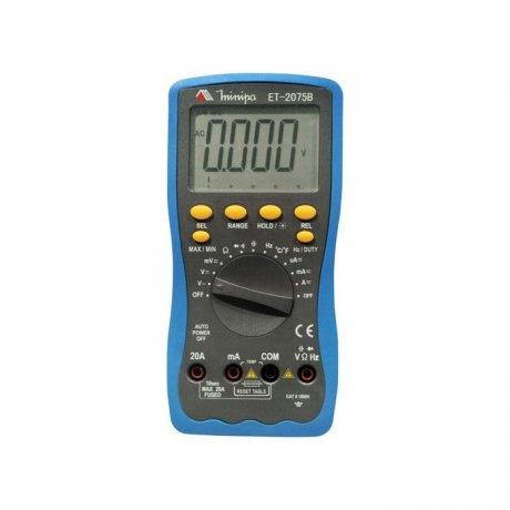 Multímetro Digital True RMS - 1000V - CATII - ET-2075B - Minipa