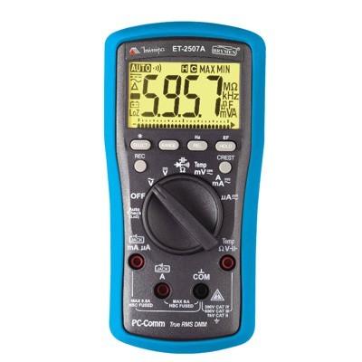 Multímetro Digital True RMS - 1000V - CATIII 600V - ET-2507A - Minipa
