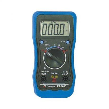 Multímetro Digital True RMS - 1000V - CATIII - ET-1605 - Minipa