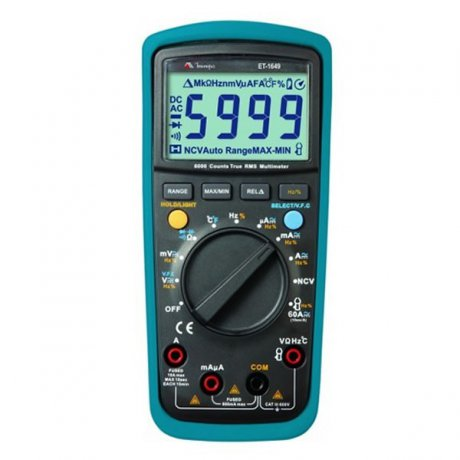 Multímetro Digital True RMS - 1000V - CATIII - ET-1649 - Minipa