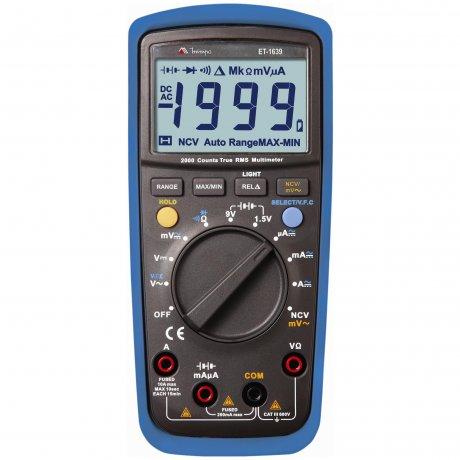 Multímetro Digital True RMS - 1000V - CATIII- ET-1639 - Minipa