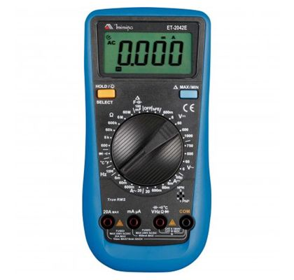 Multímetro Digital True RMS Minipa ET-2042E CAT III 600V ET-2042E