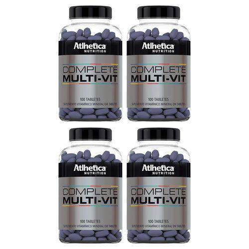 Multivitamínico Complete - 4x 100 Tabletes - Athletica
