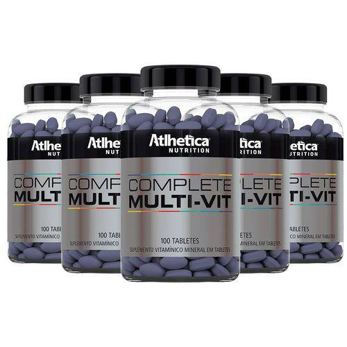 Multivitamínico Complete - 5x 100 Tabletes - Athletica