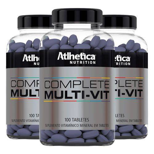 Multivitamínico Complete - 3x 100 Tabletes - Athletica