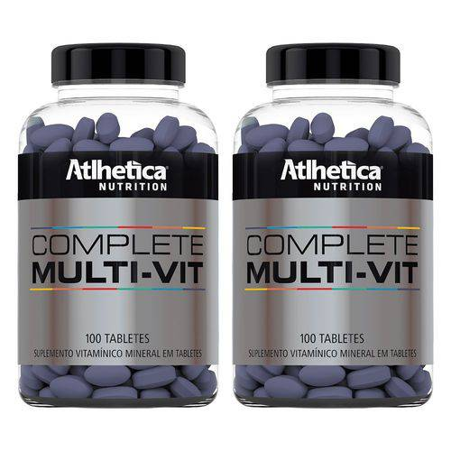 Multivitamínico Complete - 2x 100 Tabletes - Athletica